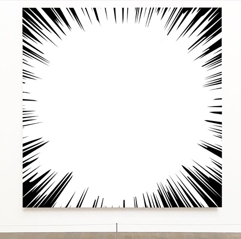 Explosion, Art, painting , love, John Zoller, Miami art, Art Basel , Burst of Light Series by Jihn Zoller