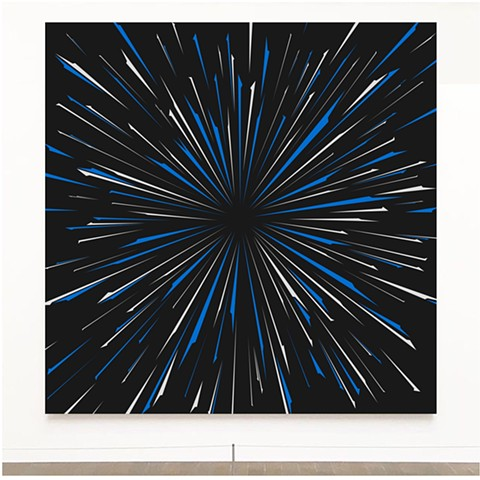 Warp Speed, Miami Artist, John Zoller Art, John Zoller Painting, Art Basel Miami, painting, Burst of Light Series by John Zoller