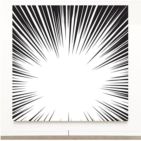 painting by John Zoller, Burst Of Light Series by John Zoller, Paintings based on Explosions, light , life, love and death, Miami artist , Miami Art, Miami Beach Art Basel, the Broad Museum