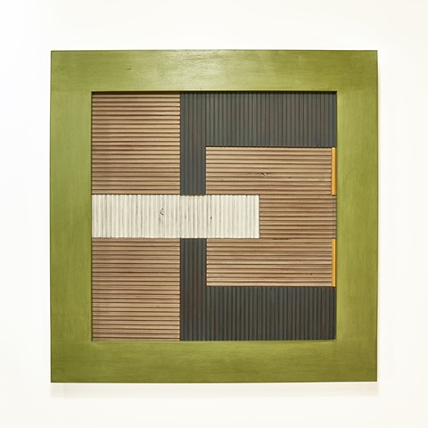 an homage to Anni Albers, wood weaving, color field work