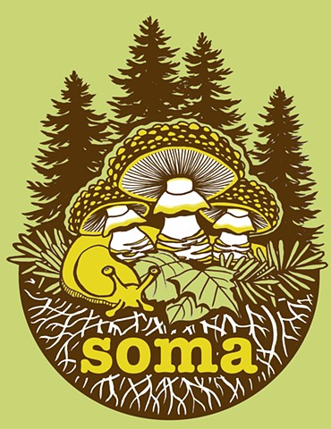 Sonoma County Mycological Association camp t-shirt 2017