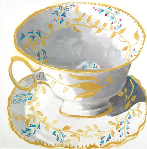 Blue/Gold Teacup