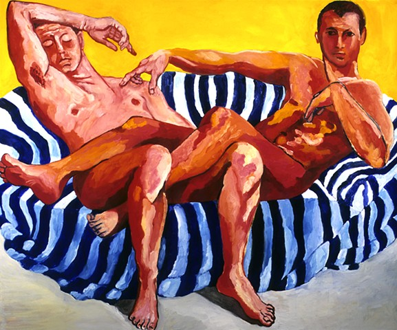 Daniel and Vincent, Oil on Canvas, 5' x 6'