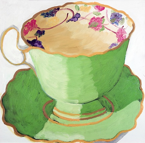 Apple Green Teacup