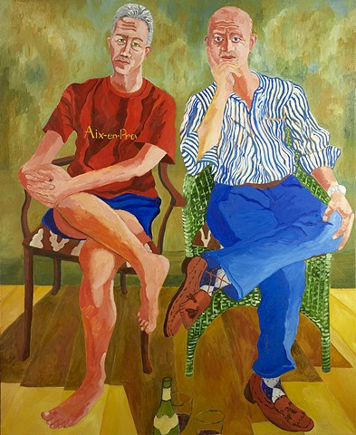 Ron and Rob, Oil on Canvas, 5' x 6'