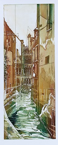 Aquatint Etching, Intaglio, Printmaking, Venice