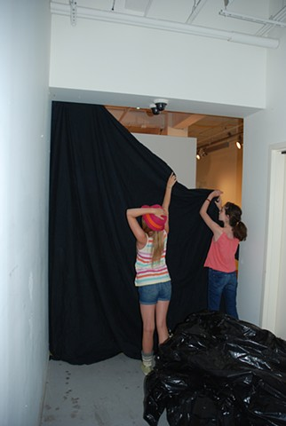 Room-sized Camera at Hyde Park Art Center with Experimental Photo Class