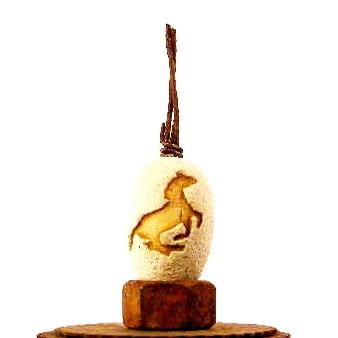 Horse eggs (2) JCC/ $30. a piece Sold 2017