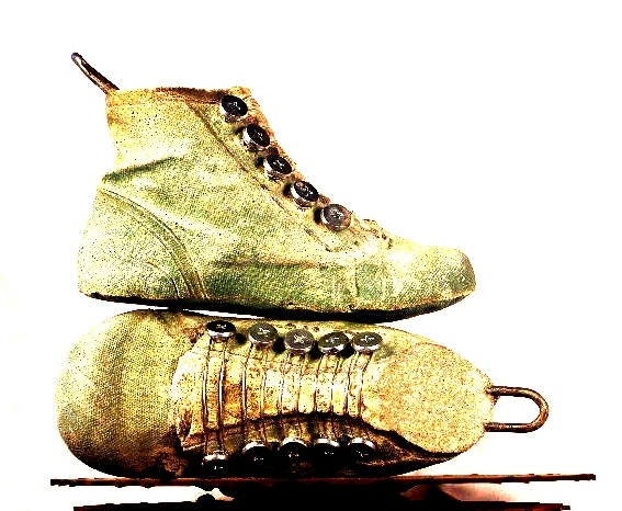 Jolly Green boot, heel pulls, metal lacing  ($225.) CFG/9.14.2012 @50% $112.50