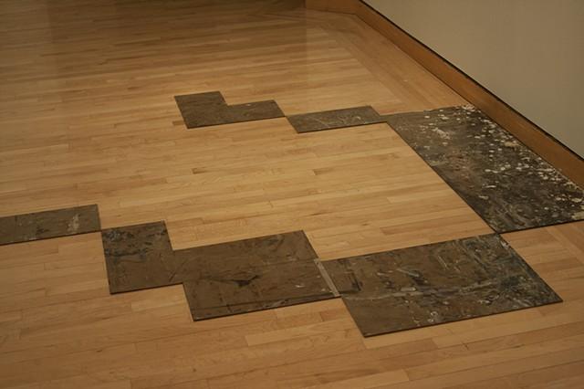 Representation of studio floors using acrylic on panel.
