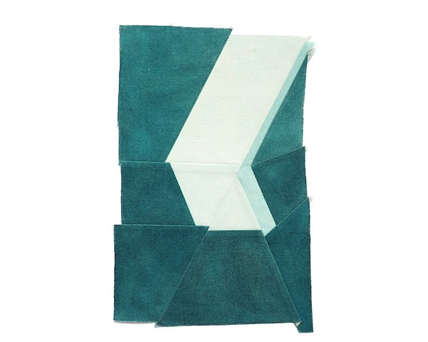 Key West art, Blue artworks, textile art, blue art, architectural art, geometric art, Gabrielle teschner