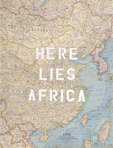 gabrielle teschner, map art, africa, national geographic