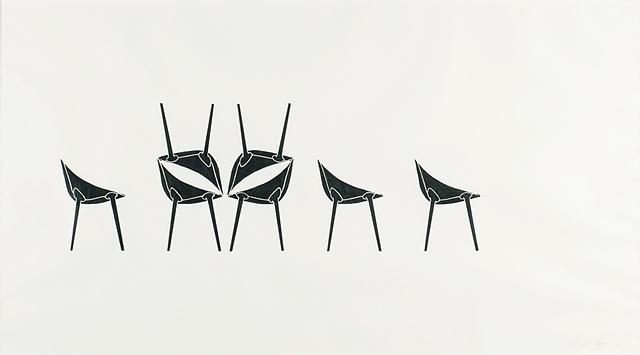 UNTITLED (DEMONIC INTERVENTION WITH CHAIRS)