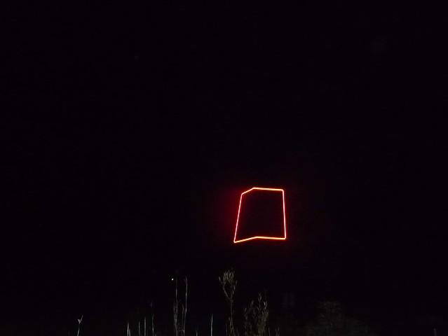 Kinetic light installation at Franconia Sculpture Park in Minnesota