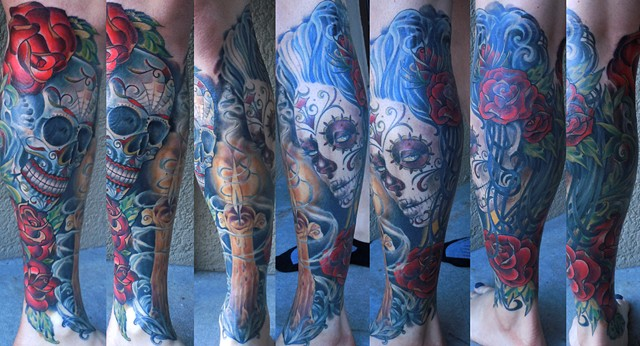 Day of the Dead Leg Sleeve