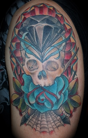Skull with Black Diamond