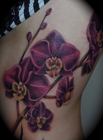 Purple Orchids Detail