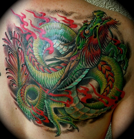 Green Japanese Dragon