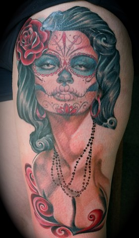 Day of the Dead Thigh