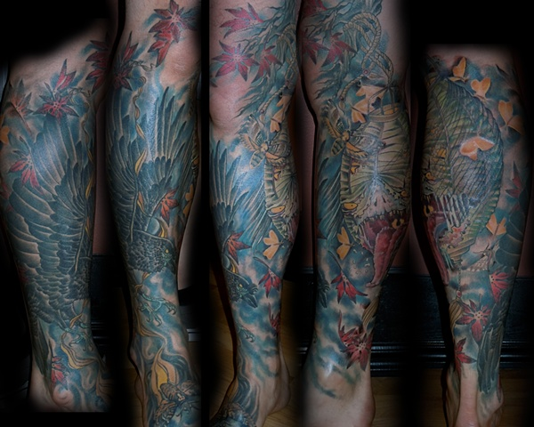 Japanese Lantern and Crow Leg Sleeve