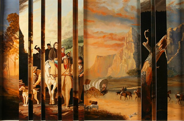Manifest Destiny Coming and Going: After Bierstadt and Bingham