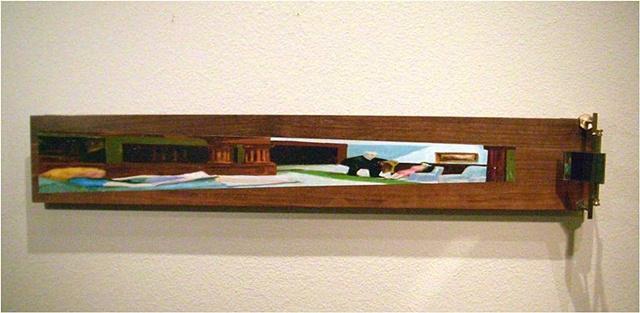 anamorphic art, Edward Hopper, Hotel Lobby