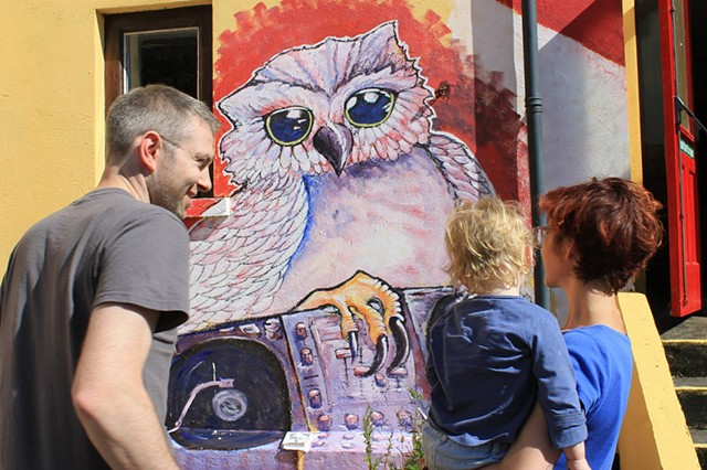 Owl Djing for MakeAMove festival, Limerick