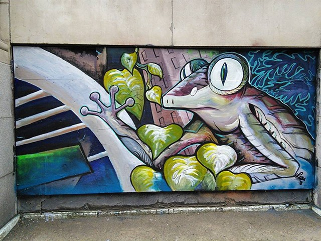 'Frog in the city' - Montreal, Under pressure Grafitti Festival