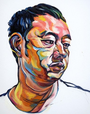 oil painting by Qing Song, portrait by Qing Song, portrait painting by Qing Song