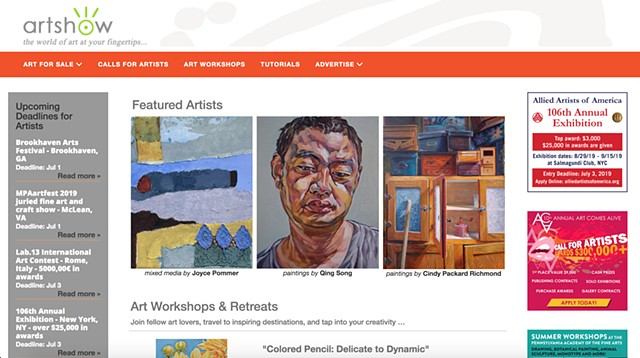 My painting is featured on Artshow.com's homepage for the month of July