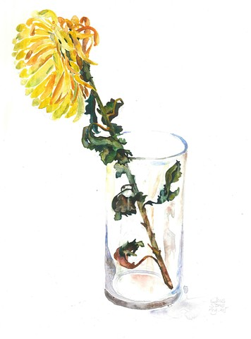 watercolor by Qing Song, painting by Qing Song