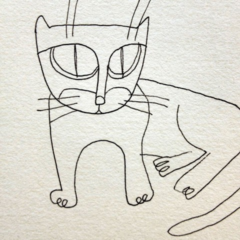 Cat Drawing by Qing Song
