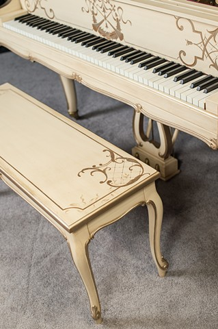 Primadonna Piano Bench Detail