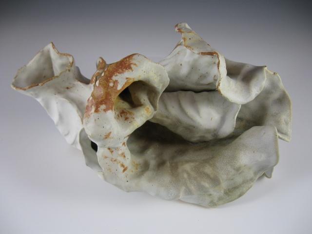 glazed white organic form