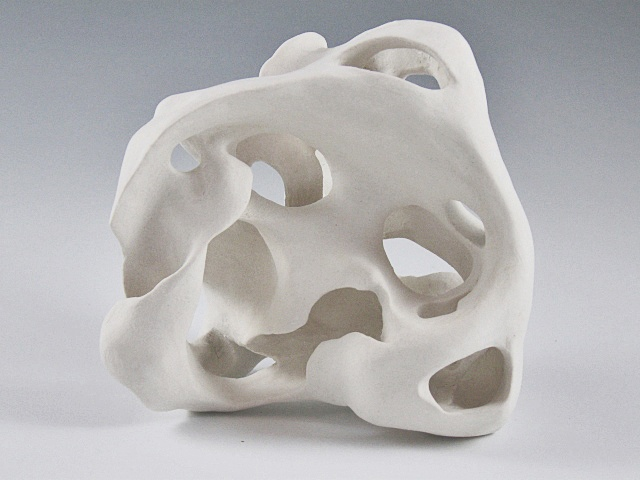 unglazed porcelain organic form