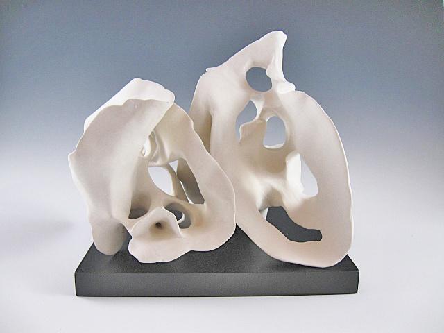 Unglazed white organic forms