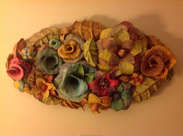 ceramic floral sculpture