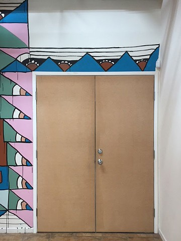 Cardboard Revival:  Slauson Avenue, Los Angeles (doorway view)