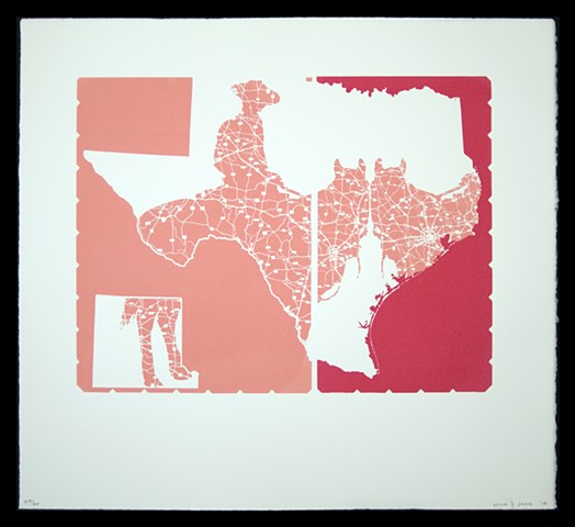 Texas: Double Cowboy (Pink)