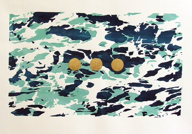 Screenprint, Silkscreen, Gold Leaf