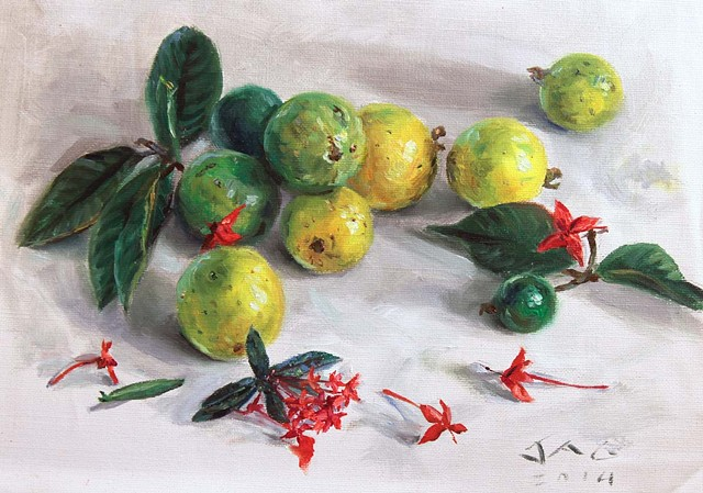 Guavas and Ixora