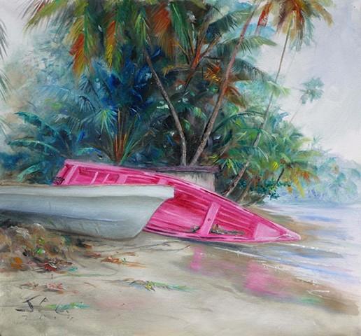 Pink Boat on Side 3