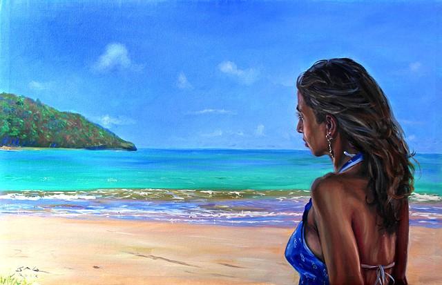 18. Girl in Blue Dress