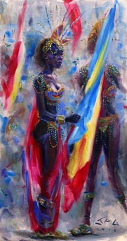 Carnival Flag Bearer