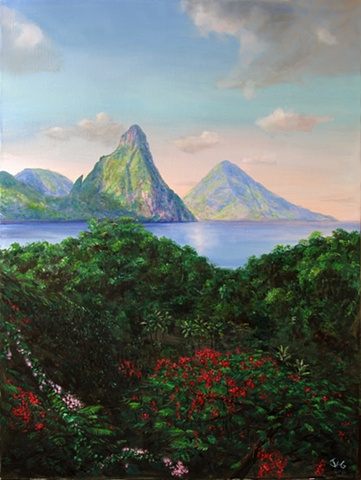 Pitons Morning 2