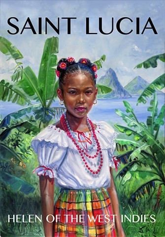 "Helen of the West Indies limited edition 19"" x 13"" giclee"