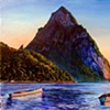 Petit Piton with Two Gommier Boats