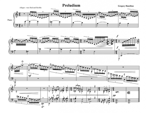 "*Preludium* from ""Little Suite for Piano"" -----"