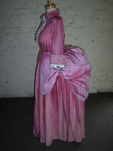 Dream Masons 3. Wife's Hand Painted Bustle Dress