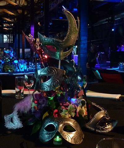 Tropical Centerpiece for Masquerade Gala. Cairns.